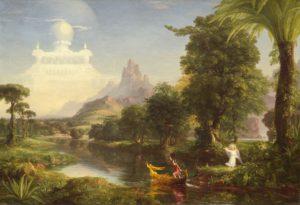 Thomas Cole, Voyage of Life: youth